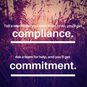 Compliance versus Commitment. Do you focus on Sales Leadership or Sales Management?