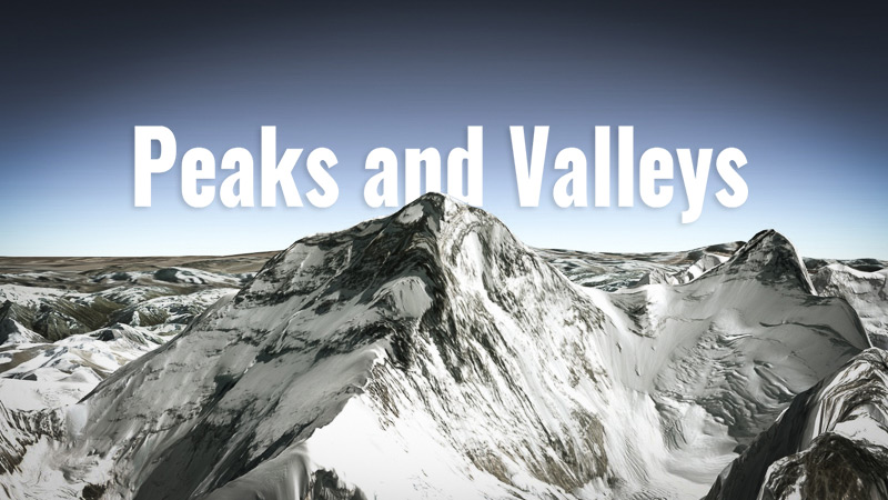 Sales Personal Development Tip: Managing the Peaks and Valleys